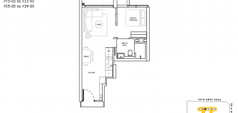 The-Landmark-Floor-Plan-1-Bedroom-Type-A1