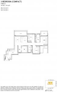 The-Landmark-Floor-Plan-3-Bedroom-compact-Type-C1